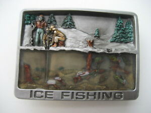 ICE FISHING  BELT BUCKLE   BK75 - <span itemprop=availableAtOrFrom>Uckfield, United Kingdom</span> - ICE FISHING  BELT BUCKLE   BK75 - Uckfield, United Kingdom