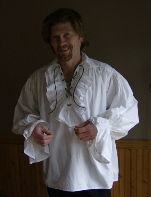 Mens Renaissance Medieval Ruffle Pirate Poet Shirt by THE WITCH'S SPINDLE