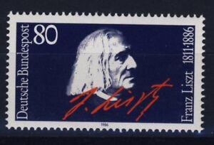 BUND 1285** postfrisch Franz LISZT Pianist 1986 - Deutschland - BUND 1285** postfrisch Franz LISZT Pianist 1986 - Deutschland