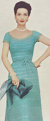 Vintage Knitting PATTERN Knitted Ribbon Evening Fancy Cocktail Dress