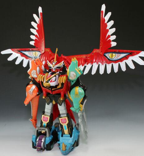 Bandai Power Rangers Gao Ranger Wild Force Dx Gao Icarus Isis Megazord Figures 8809142886570 Ebay