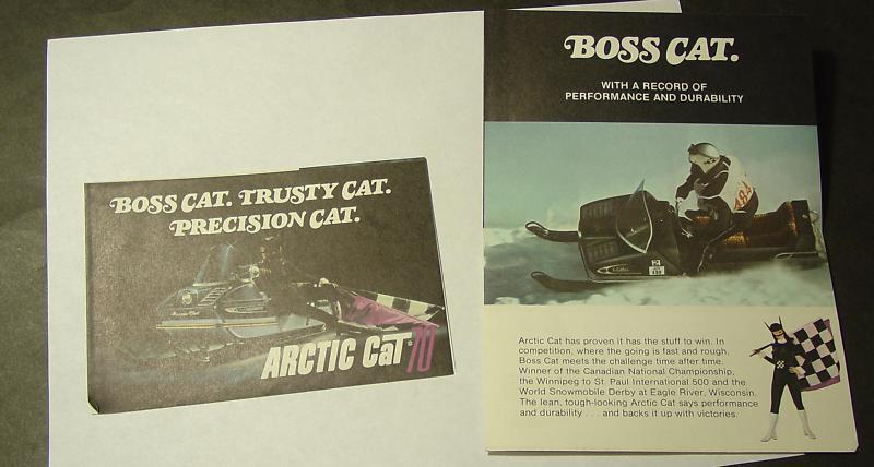 1970 ARCTIC CAT SNOWMOBILE SALES BROCHURE NICE