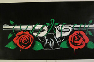 GUNS N' ROSES Pinball Cabinet Decals Screen Printed - PA EXCLUSIVE ...