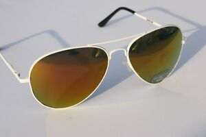 400UV-White-Metal-Aviator-with-Fire-Mirror-Lens-SUNGLASSES