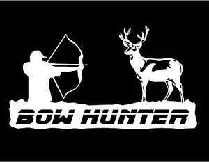 Bow-Hunter-Decal-hunting-deer-buck-car-truck-window-vinyl-graphic-stickers