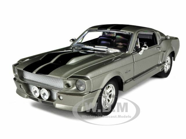 1967 SHELBY MUSTANG GT500 GT 500 GREY 1/24 DIECAST MODEL BY ROAD SIGNATURE 24206