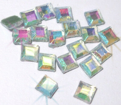 clear AB Square 3mm iron-on hot-fix rhinestone crystal