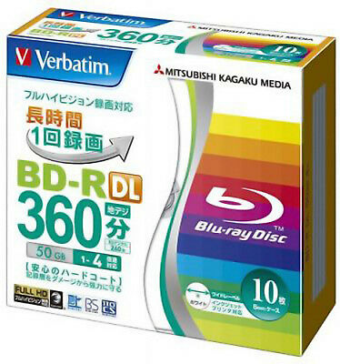 10+1 FREE Verbatim Blu ray 50GB BD-R DL 4x Bluray Blank Disc Inkjet Printable