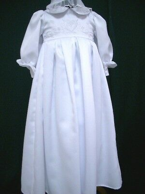 Infant Baby Girls Christening Baptism Gown & Bonnet Dresses - Sizes 000 00 0