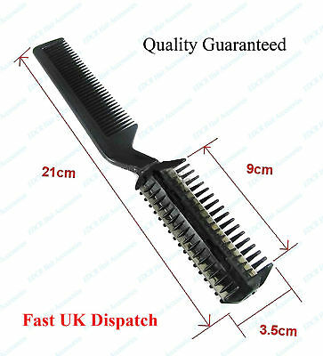Razor Comb Black 2 in 1 Best For Trimming, Thinning, Super Best Quality**