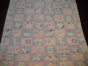 Vintage Baby Shower / Birthday Wrapping Paper Gift Wrap - 2 YARDS