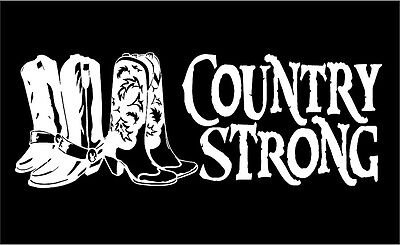 Country Strong Decal Cowboy Cowgirl Boots car window truck RV vinyl sticker