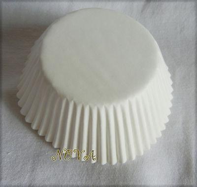 100pcs Plain white Cupcake liners baking paper cup party favor standard size