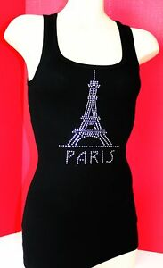 RHINESTONE-PARIS-EIFFEL-TOWER-TANK-TOP-NEW-MADE-IN-USA