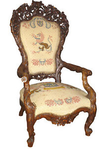 BLACK-FOREST-CHAIR-WITH-NEEDLEPOINT-13263