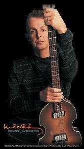 New-Genuine-PAUL-McCARTNEY-Guitar-STICKER-Decal