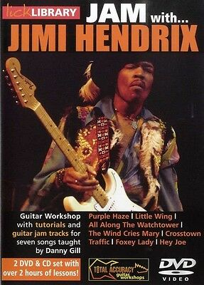 LICK LIBRARY JAM WITH JIMI HENDRIX GUITAR 2 DVD's & CD