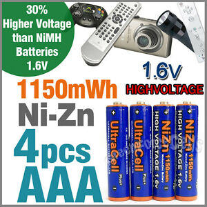 4-x-1150mWh-AAA-NiZn-1-6V-Volt-Rechargeable-Battery-3A-LR03-HR03-Ultracell-Blue
