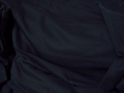 "Knit fabric lightweight t-shirt jersey 100% cotton stretch matte black 1y x 68""w"