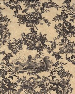 BLACK-TOILE-on-KRAFT-TISSUE-PAPER-10-Large-Sheets