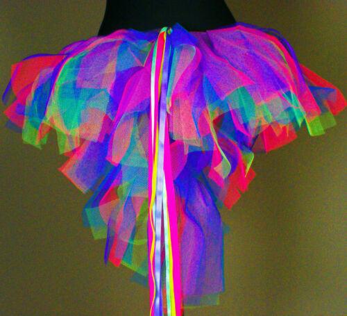 Tutu Skirt Neon UV Pink Blue Purple Yellow 8 10 12 14