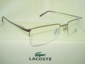 NEW-LACOSTE-LA12031-51mm-LIGHT-BROWN-UNISEX-METAL-OPHTHALMIC-EYEGLASSES-FRAME