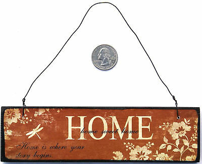 HOME SWEET HOME Wooden Plaque Sign Ornament Wall Decor
