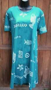 Jostar-cotton-batik-fish-print-T-shirt-dress-S-3X