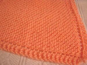 New Handcrafted Handmade Knitted / Crochet Baby Afghan Blanket - Throw