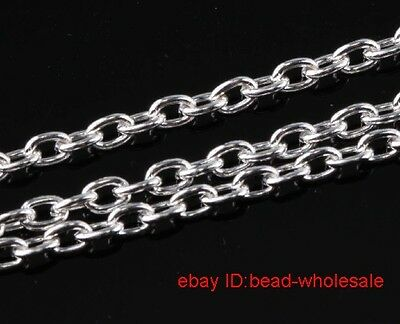 10m Silver Plated Cable Chain Findings Without Clasps Open Link ) Brand New