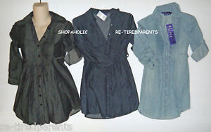 MAX-DENIM-DRESS-BABY-DOLL-BLACK-or-BLUE-DENIM-SIZE-XS-JR-1-3-NWT-20