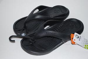 NEW-NWT-CROCS-ATHENS-4-5-6-7-8-9-10-11-13-BLACK-unisex-flip-flops-shoes