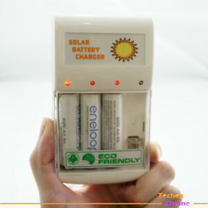 1W-Solar-Panel-Battery-Charger-4pc-AA-AAA-GREEN-POWER