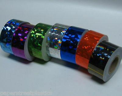 Crystal Tape 1 inch x 25 feet,  Choose Any Color,   Holographic HoloCrystal