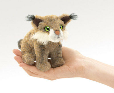 BOBCAT FINGER  PUPPET #2740 ~  Free Ship in USA ~ Folkmanis Puppets