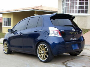 toyota yaris mk2 coffre arri re hayon spoiler coffre aile 2006 2015 neuf ebay. Black Bedroom Furniture Sets. Home Design Ideas