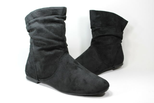 New Women Suede  Boot Black ankle boots Women`s size Sale