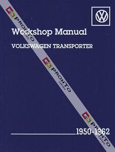 BENTLEY-WORKSHOP-REPAIR-MANUAL-VOLKSWAGON-TRANSPORTER-VW-KOMBI-VAN-1950-1962