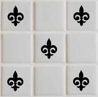 28 x Fleur Tile transfers stickers,graphics,decals, bathroom TI6