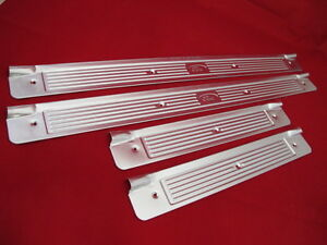 FORD-FALCON-XR-XT-XW-XY-SCUFF-PLATES-FULL-SET-FRONT-AND-REAR-WITH-SCREWS-NEW