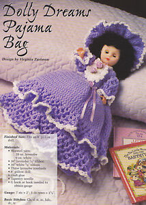 Free Crochet Patterns For Pajama Bags : Crochet Pattern ~ DOLLY DREAMS PAJAMA BAG DOLL ...