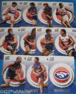2011-AFL-Select-Infinity-Western-Bulldogs-TEAM-SET-amp-LOGO-CARD