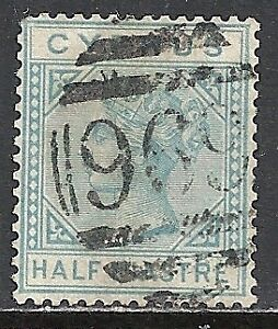 Cyprus stamps 1881 SG 11 CANC VF