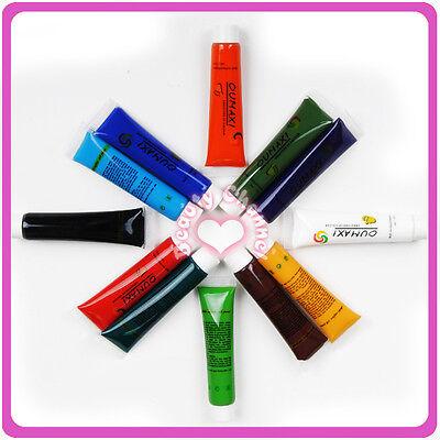 12 Color Set Acrylic 3D Drawing Paints Acrylic Nail Art Tip UV Gel Tubes 1059