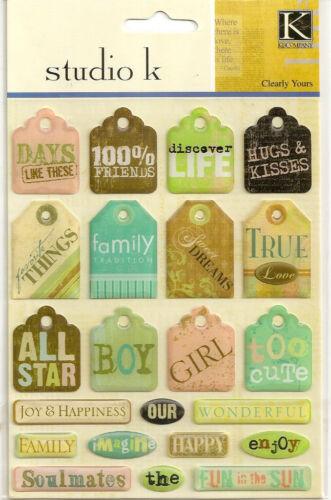 K/&Co Company Alphabet Epoxy Embellishment Stickers Patriotic Girl Birthday