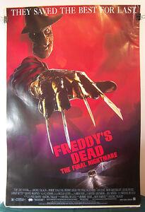 FREDDYS-DEAD-Poster-27x40-FREDDY-KRUEGER-Nightmare-on-Elm-Street-Horror-Film