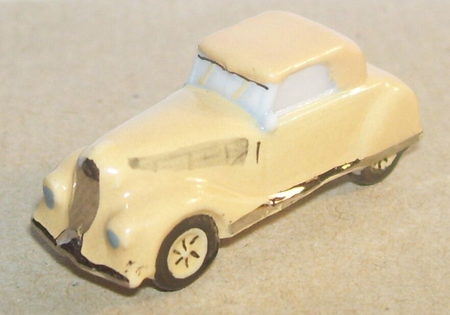 RARE RENAULT VIVA GRAND SPORT 1936 brown CLAIR FEVE PORCELAINE 3D 1 160