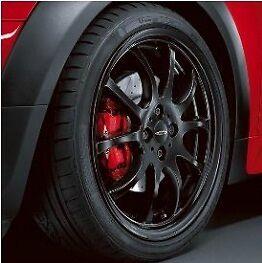 MINI-Cooper-JCW-18-034-R105-Matte-Black-Double-Spoke-Rim-Wheel-with-Hubcap-OEM-New