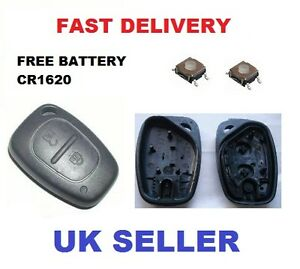 renault traffic master kangoo remote key fob repair kit new battery. Black Bedroom Furniture Sets. Home Design Ideas