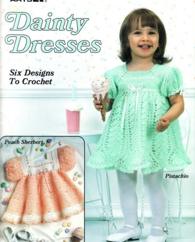 Dainty Dresses to crochet frilly patterns for baby, girls 12-18 months LA2071